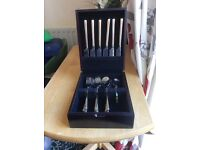 gold plated cutlery set
