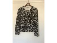 Chesca black and white lace jacket
