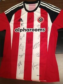 Sheffield United signed home shirt (2017) for sale.