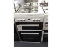Beko 60cm double oven gas cooker glass lid. £340 new/graded 12 month gteeb