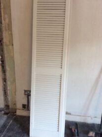 4 used louvred doors