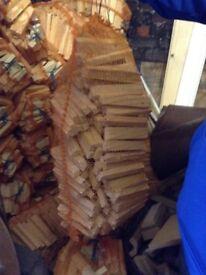 Kindling wood kindle log burner open fire fuel 8kg bags