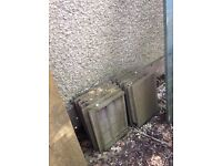2 large paving slabs/roof tiles