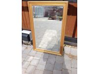 Large Gold Edged Coloured Mirror