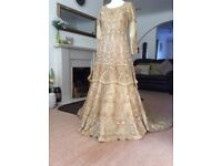 Light Gold Bridal Lehnga Dress