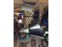 Walligraph scissor lamp, Radialite model, vintage item, in good working order