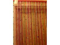Ikea Vorhang bead and ribbon door curtain/screen. The