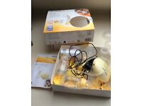 Medela swing electric breast pump and bottles