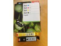 6 Printer cartridges HP364. 2black 2yellow 1cyan 1magenta