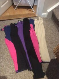 Jodhpurs of many sizes and tops