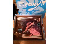 Roxy Brown Converse Style Trainers