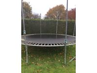 Trampoline approx 13 feet. Well used. buyer collects