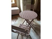 Stunning Pink Wooden Garden Furniture New.