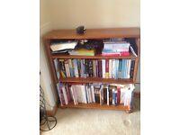 Medium wood bookcase