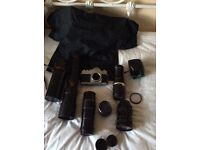 Selection of camera equipment