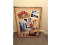 New York Canvas - Pinboard