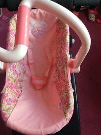 Children's doll car seat annbell brand new