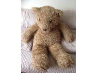 HUGE LIGHT BEIGE BROWN TEDDY BEAR