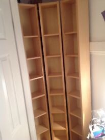 3 IKEA DVD Towers - birch effect