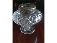 Lead crystal posey bowl for sale