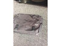Black fcuk laptop/work bag