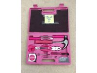 Pink full tool kit and case