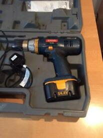 Ryobi 14.4v cordless drill and charger and case