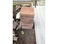 Red paving slabs x 10 in good condition