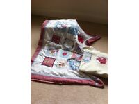 Cot Quilt and fleece blanket- Farmyard patches by NEXT £10 ONO