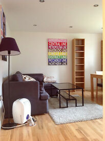 5 mins walk from Stratford station in low rise block: bright 2 bed ground floor flat