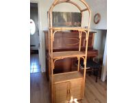 Wicker and cane stand