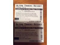Two Alton towers tickets