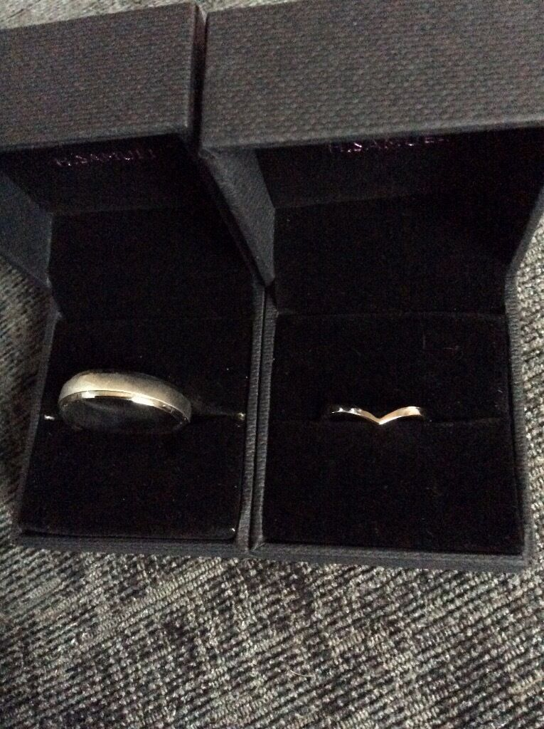 Wedding Rings for saleNever been usedin Shandon, EdinburghGumtree - Mens wedding ring, size Z from H.Samuel and ladies wedding ring, size M also from H.Samuel for sale. Never worn. Rings that were ordered from elsewhere arrived and these ones are no longer needed past the return timescales so cant take them back....