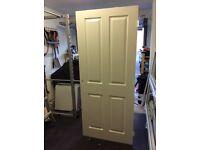 Internal moulded 4 panel grain hollow door - freshly glossed (h) 1981 mm (w) 838 mm (d) 35 mm