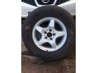 Mercedes ML type ALLOYWHEEL & General Grabber tyre ST 225/75 R16