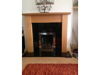 Beech fire surround and granite hearth. Lovely condition
