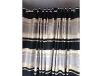 4 pieces, black,gold and silver coloured curtains