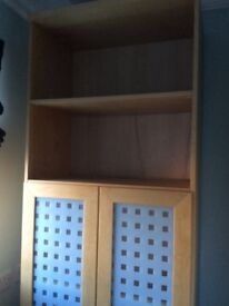 Ikea storage unit in great condition. Beech colour, Hx218cm, Wx72cm, Dx41cm. Must collect