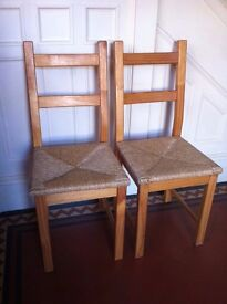 2 Farmhouse Style Wooden Chairs Good Condition / Can Deliver