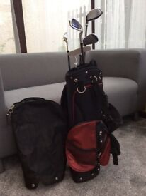 Children's Golf Bag and 5 Clubs. Approx age 6 - 10