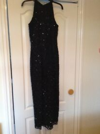 Black Sequin Dress full length, fully lined in perfect condition.