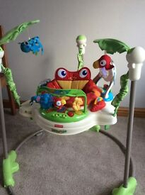 Rainforest jumperoo baby bouncer