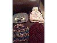 Selection of ladies winter hats