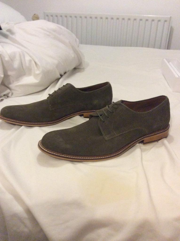 Khaki Suede Shoes (Size 11/12)