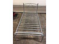 Single chrome bed frame