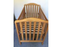Cosatto 'Sarah' pine effect high/low sliding side cot