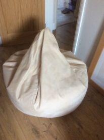 Large cream beanbag for sale.