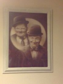 Laurel and hardy black and white picture