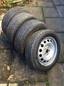 Four 205/55 16 tyres