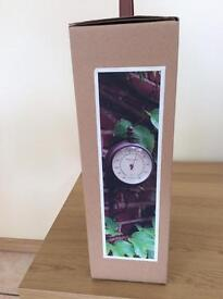 Garden Wall Clock and Thermometer